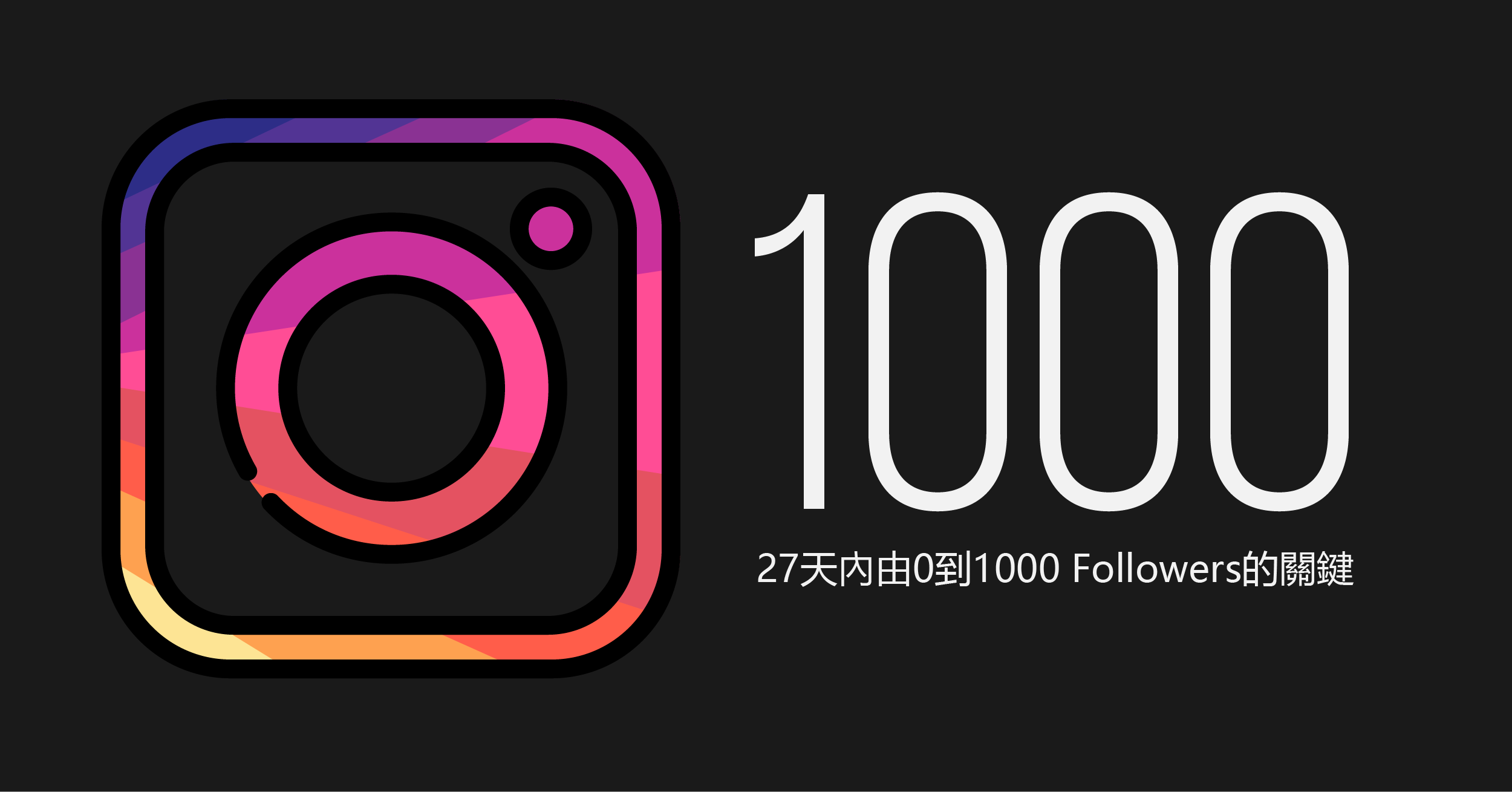 Thumbnail of Sparka Digital's blog post about gaining 1000 instagram followers