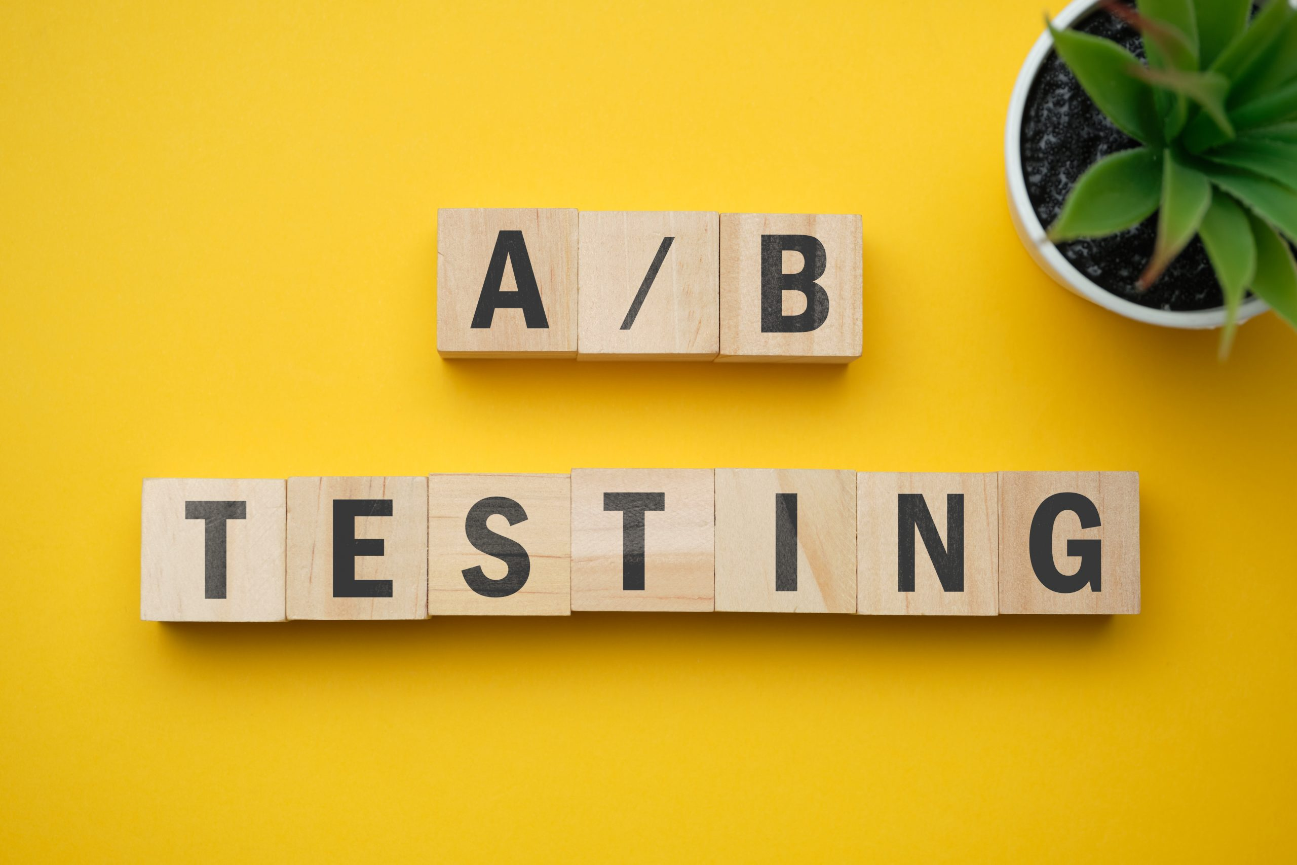 Thumbnail of cubes spelling A/B testing